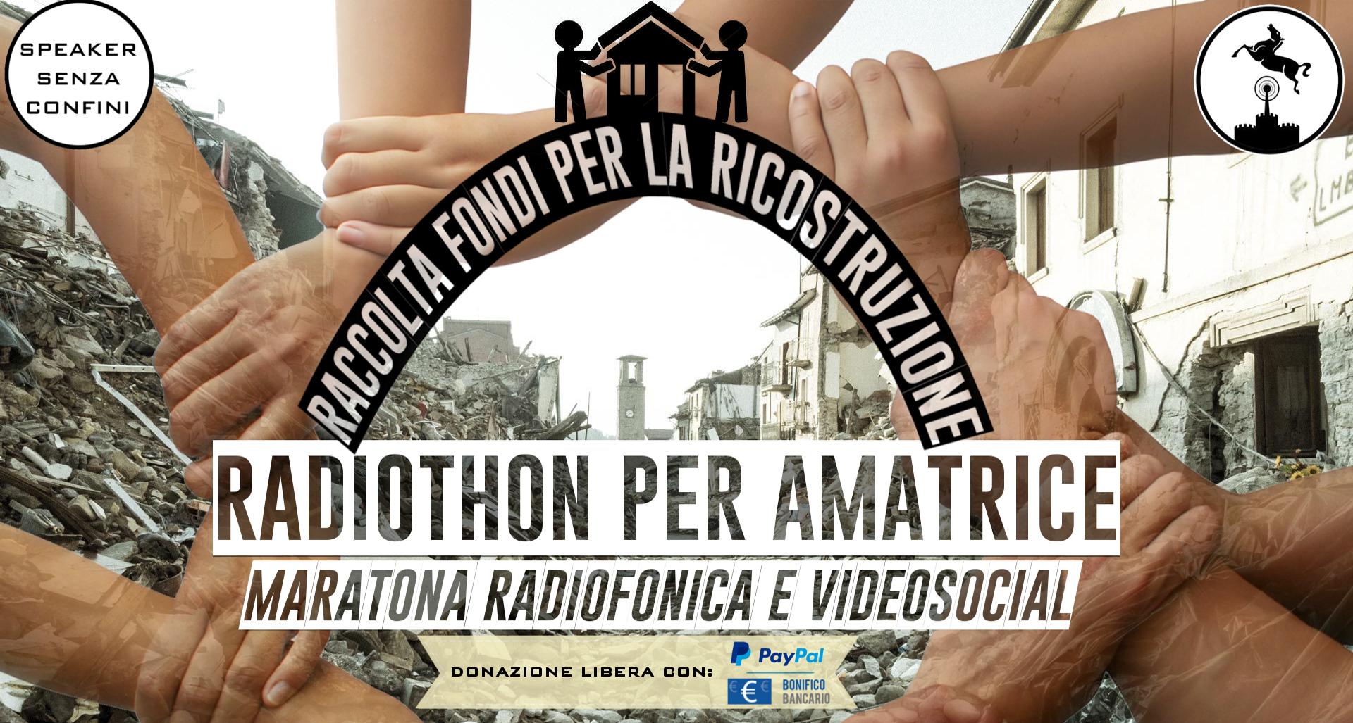 "I DIAVOLI ARANCERI SUPPORTANO ""RADIOTHON PER AMATRICE"""