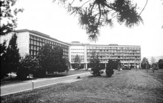 Gli stabilimenti Olivetti ad Ivrea, 13 novembre 1990. ANSA